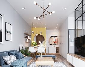 3D model Scandinavian Style Apartment