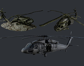 3D asset Sikorsky UH60 Black Hawk Military Helicopter 3