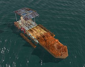 Post Apocalyptic Survival Boat 3D model