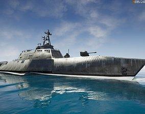 USS Independence LCS-2 Littoral Combat Ship 3D asset