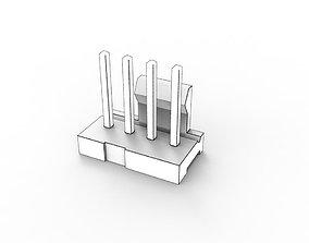 3D model 4 Pin Fan Header