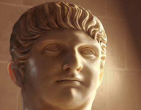 3D A bust of Roman Emperor Nero