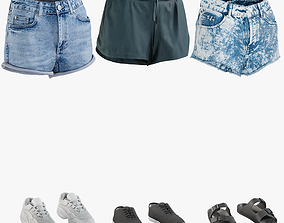 Womens Shorts with Sneakers Collection 1 3D