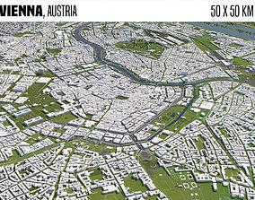 Vienna Austria 50x50km 3D model