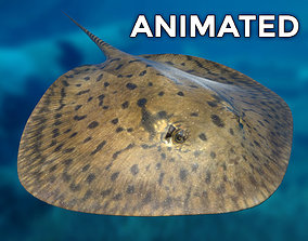 Stingray 3D asset animated