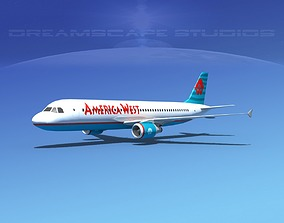 3D asset Airbus A320 LP America West