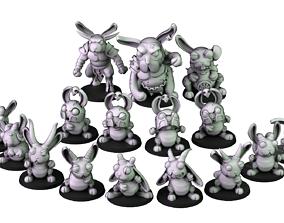 3D print model Demonic Rabbits team