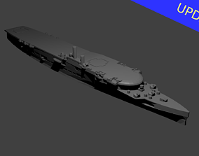 British Aircraft Carrier Furious 3D printable model