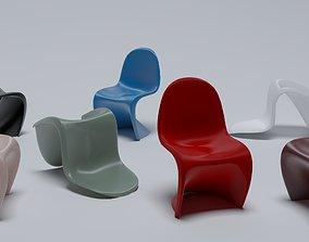 3D Verner Panton Vitra Panton chair