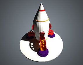 interstellar Spaceship 3D model VR / AR ready