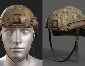 Helmet military combat soldier armor scifi 3D asset