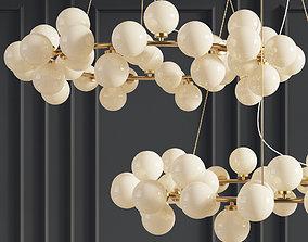 Chandelier Inflora 45 plafonds by Atelier Aret 3D