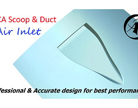3D model NACA Scoop and Duct Air Inlet