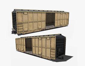 Train Box Car 3D asset