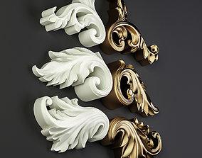 Decorative Floral Ornament-02 3D model