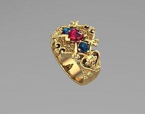 Skullcap Diamond ring NN068 3D print model