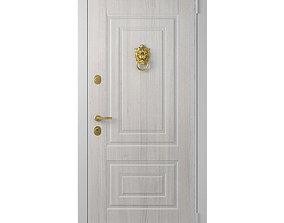 3D model Door with a handle Lion