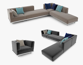 3D model Royal Botania Lazy Sofa Collection