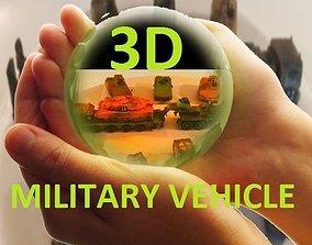 zehn 3D deutsche Panzer und Fahrzeuge