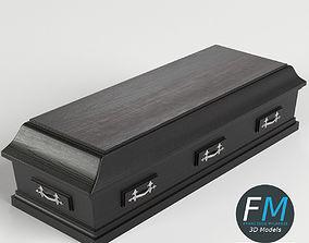 Closed coffin 3D model PBR
