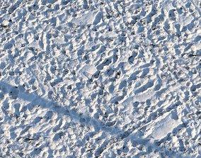 8k seamless material - grass under snow 3D model