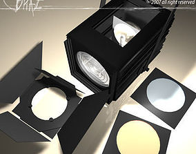 3D model Stage light and Fresnel 2