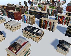 QA Modern Books 3D asset