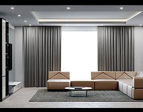 Corona C4D Scene files - Modern Minimalist Home Scene 3D