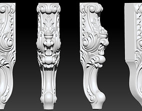 CABRIOLE CARVED Furniture Leg 3D Models set - 1
