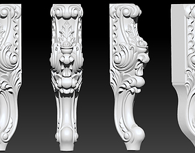CABRIOLE CARVED Furniture Leg 3D Models set -