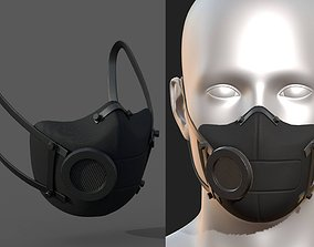 3D model Gas mask protection futuristic fantasy isolated