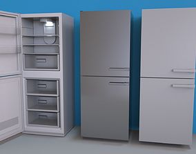 3D model Fridge with Interior - Lightmapped - Octane