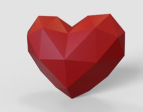Heart lowpoly for 3d print