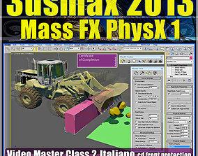 animated 3dsmax 2013 Mass Fx PhysX v 2 Italiano cd front