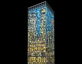 3D Skyscraper At Night