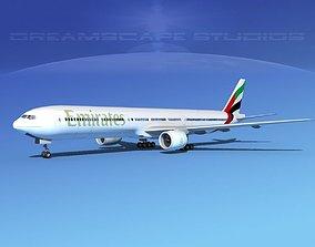 Boeing 777-300 MP Emirates 3D model