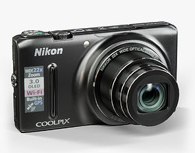 Nikon Coolpix S9500 compact digital camera 3D asset