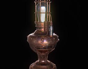 Steampunk lamp 3D asset