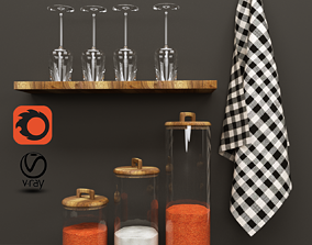 Zara Home set 3D Model