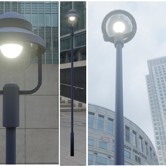Low-Poly Street Light Number 5