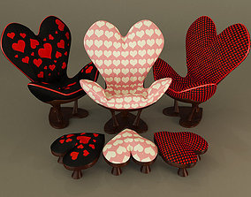 Sweet Heart Chair 3D