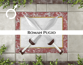 3D asset Ancient Roman Pugio