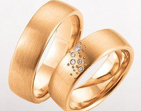 Wedding rings 222 3D printable model