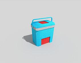 low poly beach cooler 3D asset