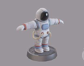 Cartoon low poly astronaut character 3D model