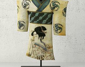 3D model Painted Shell Kimono
