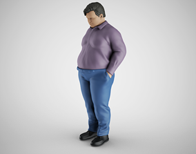 Man with Hands in Pockets 3D printable model