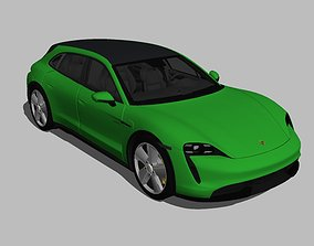 Porsche Taycan Turbo S Cross Turismo 3D model
