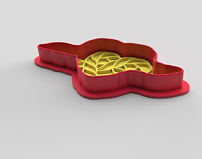 3D print model Cookie cutter and stamp - Heart