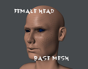 Female Head Base Mesh 3D model